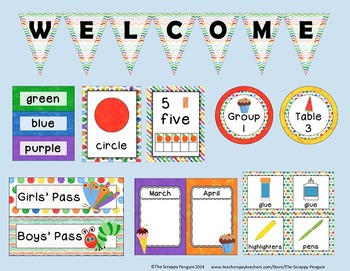 Caterpillar Classroom Theme {Mega Pack}