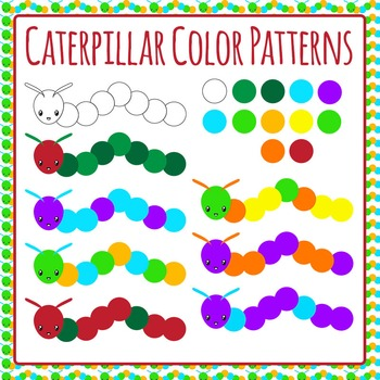 Caterpillar Color Patterns Commercial Use Clip Art Pack