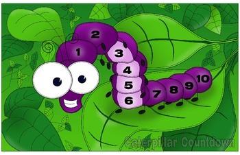 Caterpillar Countdown Game