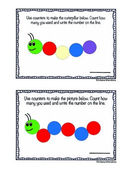Caterpillar Counter Math Center Game