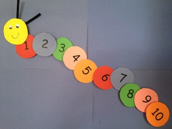 Caterpillar Counting Cut & Paste