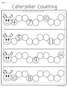 {Caterpillar Counting Freebie} Common Core Math for Kindergarten!
