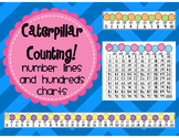 Caterpillar Counting Number Lines and Hundreds Charts