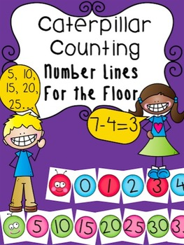 Caterpillar Counting - Number Lines for the Floor