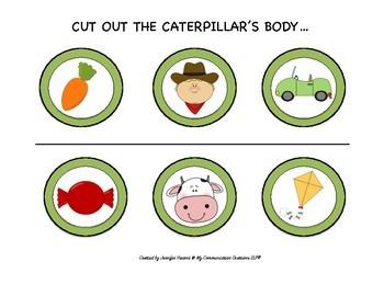 Caterpillar Cut + Paste Craft for Initial /K/ SLP Speech Therapy