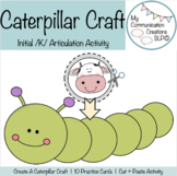 Caterpillar Cut + Paste Craft for Initial /K/ SLP Speech Therapy