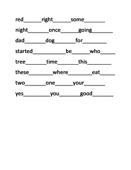 Caterpillar First Grade Sight Word Puzzles