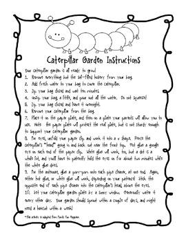 Caterpillar Garden Craftivity