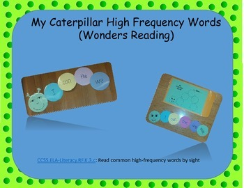 Caterpillar High Frequency Words-Wonders Reading