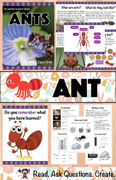 ANT NONFICTION UNIT (Booklet, Craft Pattern, Lapbook)
