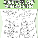 Caterpillar Kindergarten Addition and Subtraction Workshee