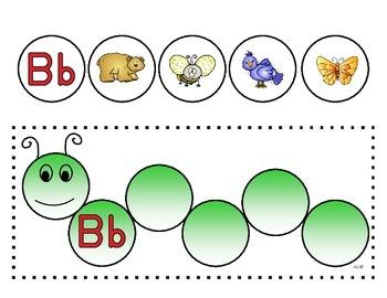 Caterpillar Letter Matching Cards
