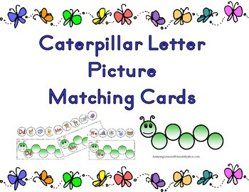 Caterpillar Letter Matching Cards