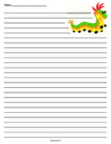 Caterpillar Lined Paper