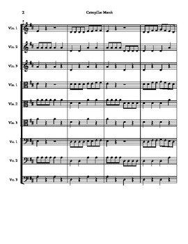 Caterpillar March score and parts for string orchestra