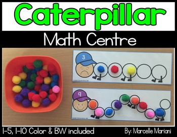 Caterpillar Math Center- Count and show quantities to 10