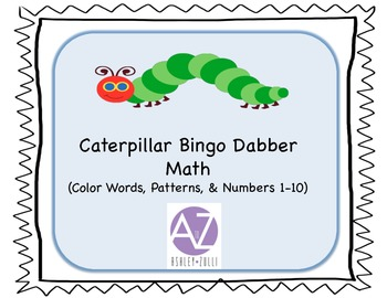 Caterpillar Math with Bingo Dabbers Numbers, Patterns, & Colors