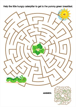 Caterpillar Maze, Commercial Use Allowed