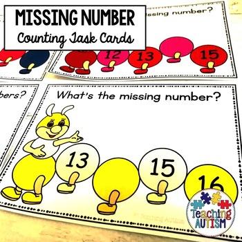 Caterpillar Missing Number Task Cards