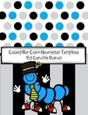 Caterpillar Newsletter Template FREE