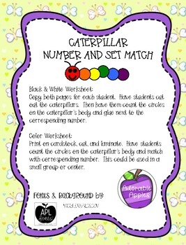 Caterpillar Number and Set Match