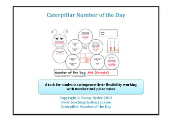 Caterpillar Number of the Day