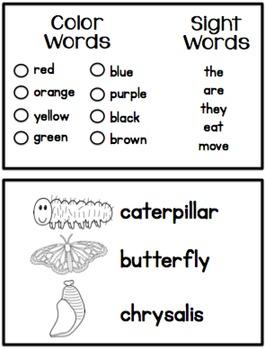 Caterpillar Observation Science Journal