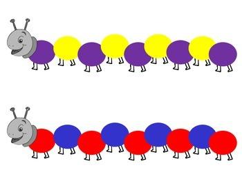 Caterpillar Pattern Pom Pom Cards {FREEBIE}