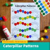 Caterpillar Patterns Math Activity, Bug, Insect, Dot Stick