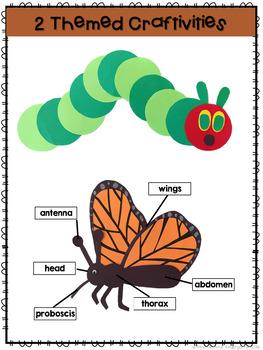 Caterpillar: Reading Comprehension, Writing and Craftivities