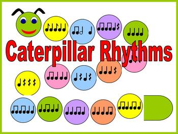 Caterpillar Rhythms Bulletin Board Kit or Workstation/Center for Music Class
