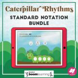 Music Distance Learning: Caterpillar Rhythms Bundle - BOOM Cards