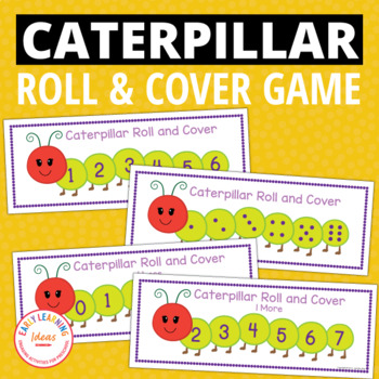 Caterpillar Roll and Cover: Differentiated Math Activity for Preschool