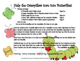Caterpillar Sentence Structure and Sight Word Activity