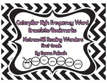 Caterpillar Sight Word Bracelets/Bookmarks-McGraw Hill Reading Wonders 1st Grade