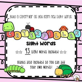 Caterpillar Sight Word Display