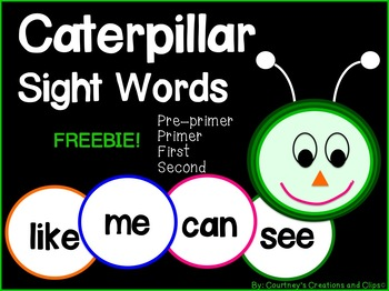 Caterpillar Sight Words {Freebie}
