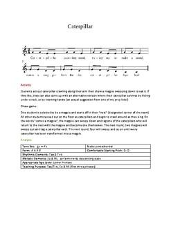Caterpillar Song & Game