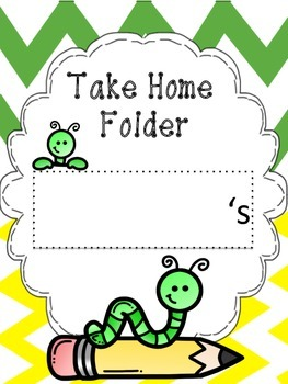 Caterpillar Take Home Folder Covers