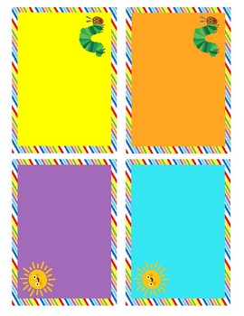 Caterpillar Theme Name Tags