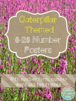 Caterpillar Themed 0-20 Numbers Posters