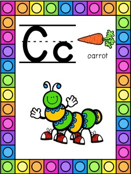 Caterpillar Themed Alphabet Posters