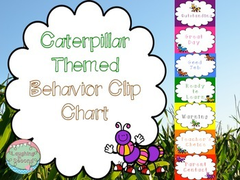 Caterpillar Themed Behavior Clip Chart