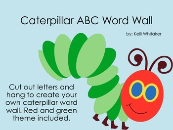 Caterpillar Word Wall Letter Set