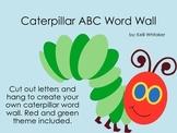 Caterpillar Word Wall Letter Set