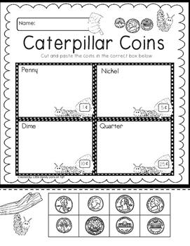 Caterpillar and Butterflies Math Activities