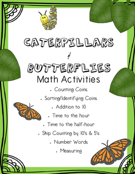 Caterpillar and Butterflies Math Activities