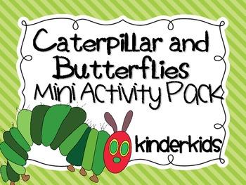 Caterpillar and Butterflies Mini Activity Pack