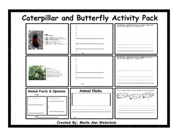 Caterpillar and Butterfly Activity Pack