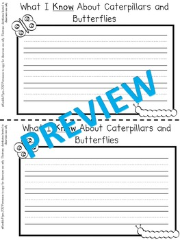 Caterpillar and Butterfly Journal